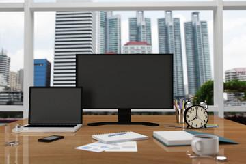 computer concept business 3D rendering