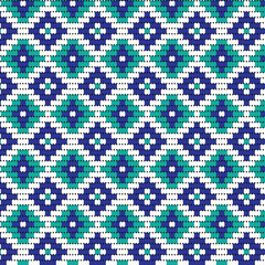 blue bead geometric pattern