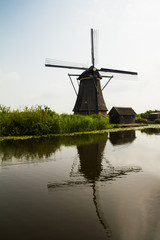 windmill reflected on water