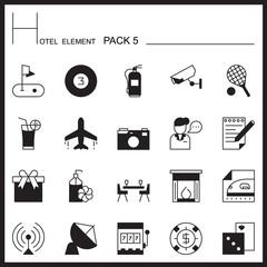 Airport Element Line Icon Set 5.Mono pack.Graphic vector logo