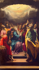 Fototapete - CREMONA, ITALY - MAY 25, 2016: The painting of Pentecost in The Cathedral by G. B. Trotti nicknamed Malosso (1555 - 1612).