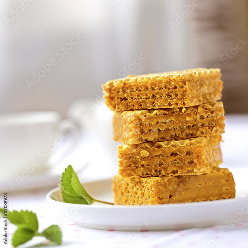 how to make caramel wafers