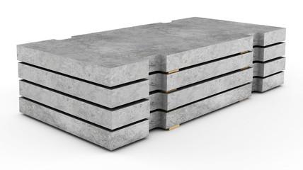 Reinforced concrete road plates