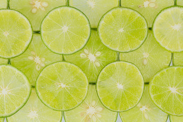 Limes slice for background
