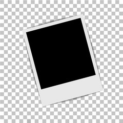 Photo frame on isolated background. Vector illustration