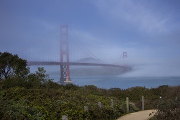 Golden Gate Bridge Over The Mist