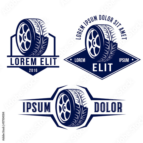Set Of Car Related Signs Logos Icons And Symbols Stock Image And - Car signs logos