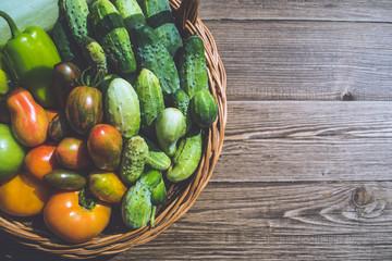 Fresh vegetables in basket