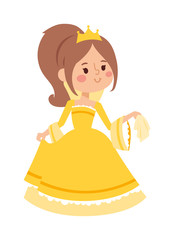 Princess vector character isolated