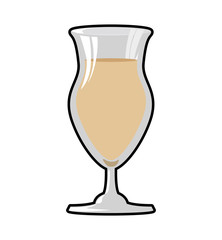 Drink and alcohol concept represented by cocktail glass icon. Isolated and flat illustration