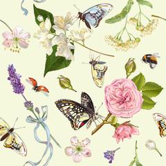 Herbal butterfly pattern