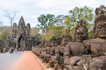 South gate of Angkor Thom, Siem Reap, Cambodia
