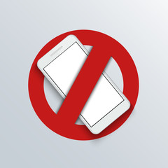Vector modern smartphone logo banner background.