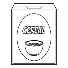 flat design cereal box icon vector illustration