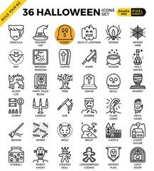 Spooky halloween icon