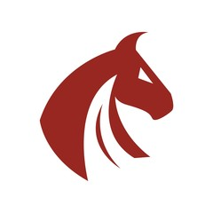Horse logo animal icon vector