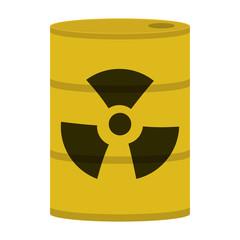 flat design toxic waste icon vector illustration