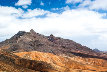 Beautiful volcanic landscape of Fuerteventura. Canary Islands. Spain