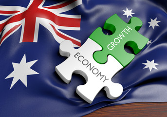 Australia economy and financial market growth concept, 3D rendering