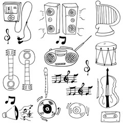Doodle of music stock object