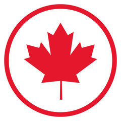 flat design canadian badge icon vector illustration