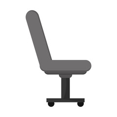 flat design office chair icon vector illustration