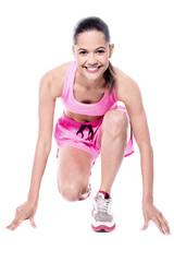 Female runner set to race