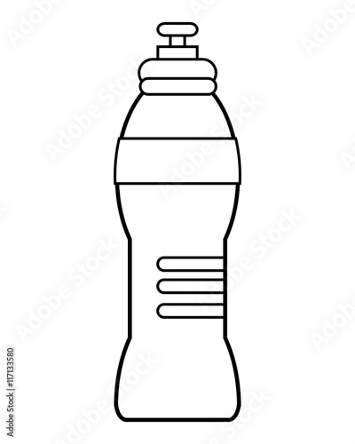 quot flat design sports water bottle icon vector illustration