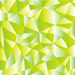 Green abstract geometric pattern vector background formed with gradient triangles