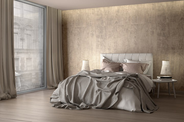 Schlafzimmer Mit Vorhang