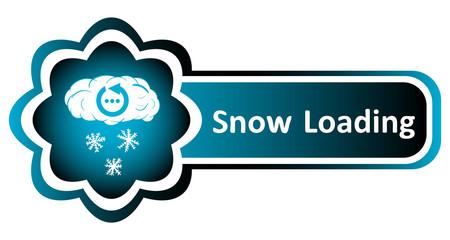 Double blue icon snowflakes loading