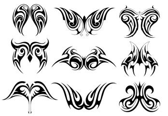 Set of tribal art tattoo