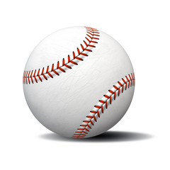 typical white baseball