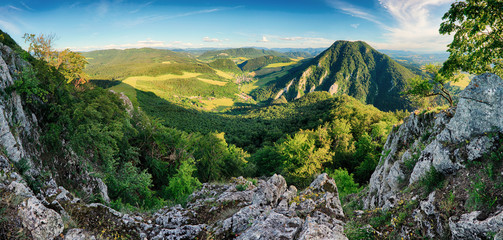 Rock and forest at spring in Slovakia
