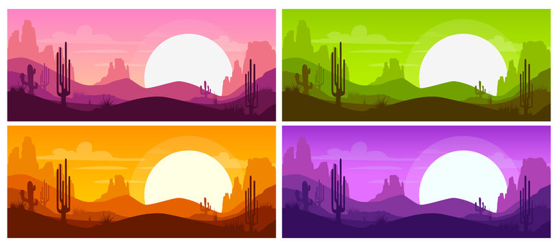 Cartoon desert landscape