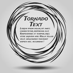 Abstract background for the text in the form of a tornado.