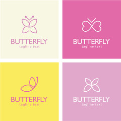 Butterfly design elements - symbols, logos