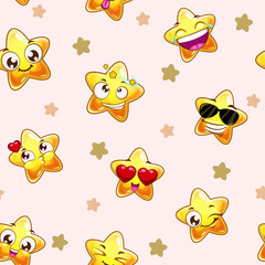 Funny childish vector seamless texture