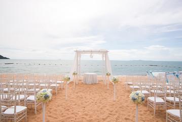 Beach weding decoration