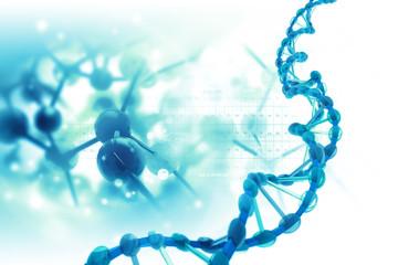 DNA structure on scientific background