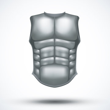 Silver ancient gladiator body armor