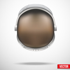 Astronaut helmet with reflection glass vector.