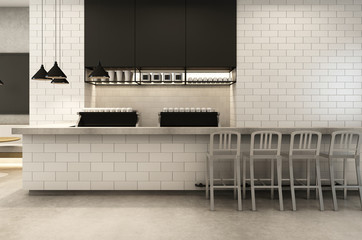 Coffee Shop Loft & Modern - 3D render