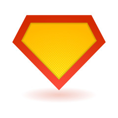 Bright superhero symbol
