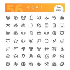 Game Line Icons Set