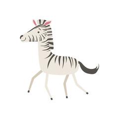 Zebra Stylized Childish Drawing