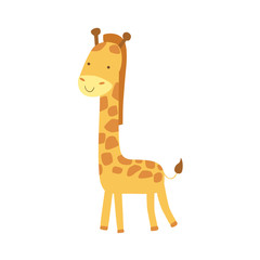 Giraffe Stylized Childish Drawing