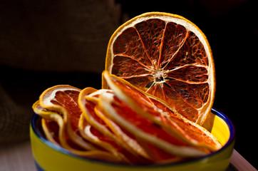 Dehydrated grapefruit. Natural organic vegetarian food. Healthy snack