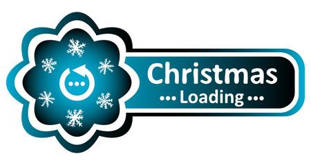 Double blue icon Christmas loading