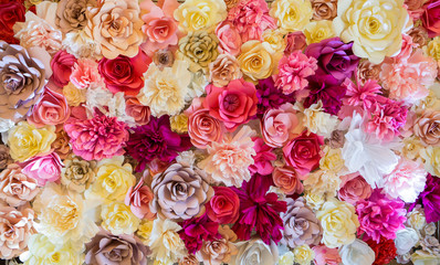 Abstract background of flowers. Close-up.